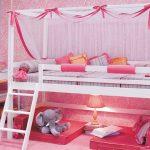 """Розовая кровать-чердак """"Принцесса"""""""