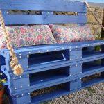 Садовый диван с подушками