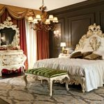 Шикарная спальня в стилевом направлении барокко