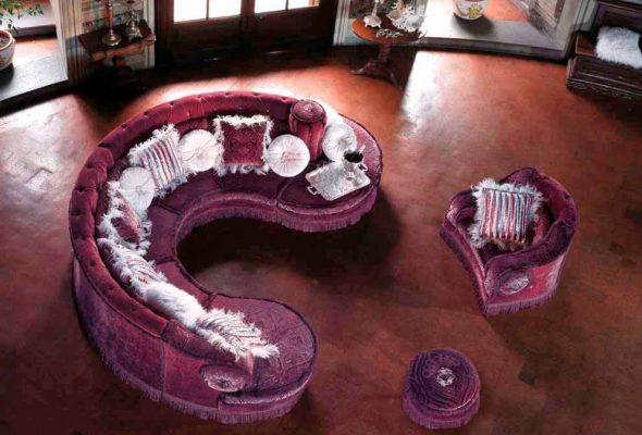 Шикарный круглый диван-трансформер, превращающийся в кресло, большой диван и пуфик