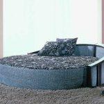 Синий диван-кровать для стильной гостиной