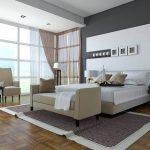 Спокойная и функциональная спальня в стиле хай-тек