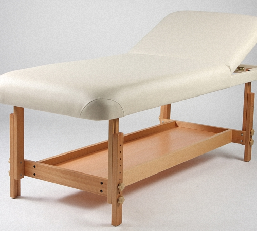 Белый стационарный массажный стол