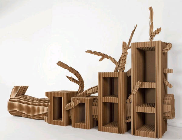 Как сделать мебель из картона 600