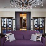 Стильная комната для приема гостей