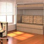 Стильная мебель для гостиной с тремя спальными местами