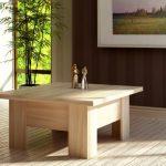 стол трансформер дерево