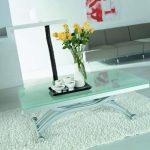 стол трансформер стекло