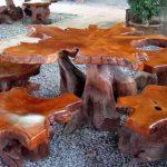 Столы и стулья из массива для дачи под старину своими руками