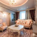 Уютная гостиная в стиле барокко