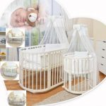 Уютная круглая колыбелька для детского сна