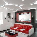 Яркая мягкая мебель в интерьере