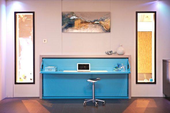 Яркий комод-кровать рабочий стол
