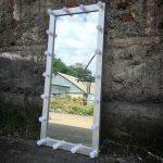 Большое белое зеркало в пол своими руками