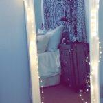 Большое зеркало в пол с подсветкой-гирляндой
