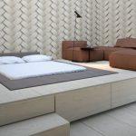 Диван и кровать на подиуме