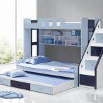 Двухъярусная кровать с выдвигающимися модулями