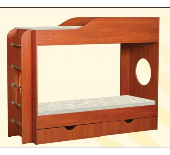 Двухъярусная кровать Тандем с двумя ящиками