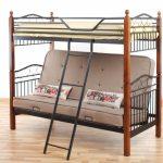 Двухъярусная металлическая кровать с диваном Футон