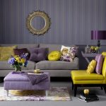 Эффектная комбинация мягкой мебели разных цветов
