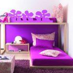 Фиолетовый цвет для подростковой спальни