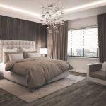 Интерьер спальни к мягкой кроватью