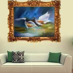 Картина для гостиной с птицами