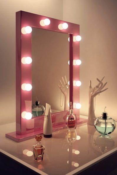 Зеркало, изготовленное под заказ в яркой сочной оправе
