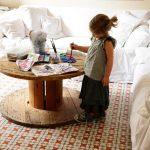 Круглый стол своими руками из катушки для кабеля