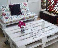Мебель из поддонов для дачного домика
