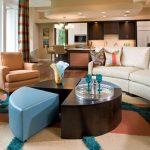 Мебель с закругленными углами для гостиной по фен-шуй