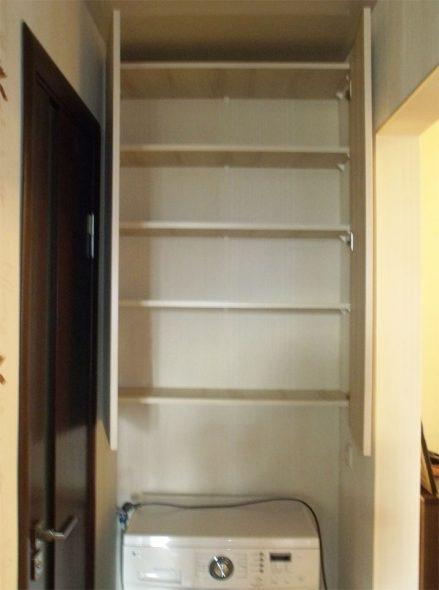 Навесной шкаф в нише
