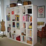 Небольшой шкаф перегородка в виде библиотеки