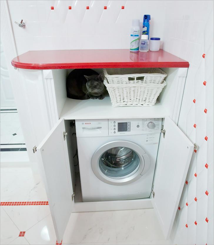 Шкаф под стиральную машинку своими руками