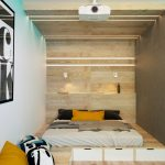 Обшивка кровати-подиум из фанеры