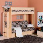 Односпальная кровать чердак с диваном для взрослых