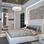 Оформление дизайна спальни белого цвета