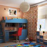 Подростковая двухъярусная кровать в интерьере