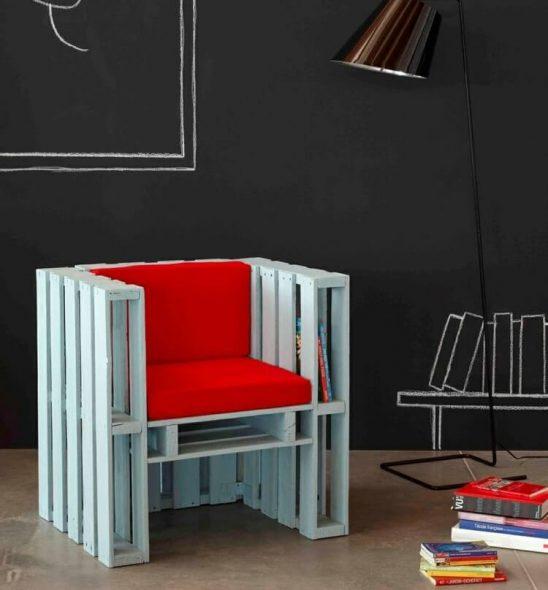 Декорируем готовое кресло