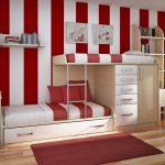Полоска в интерьере комнаты подростков