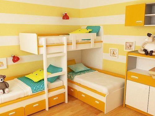 Радостная желтая детская комната