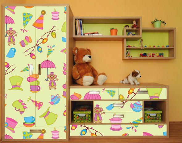 Самоклеющаяся пленка для детской мебели