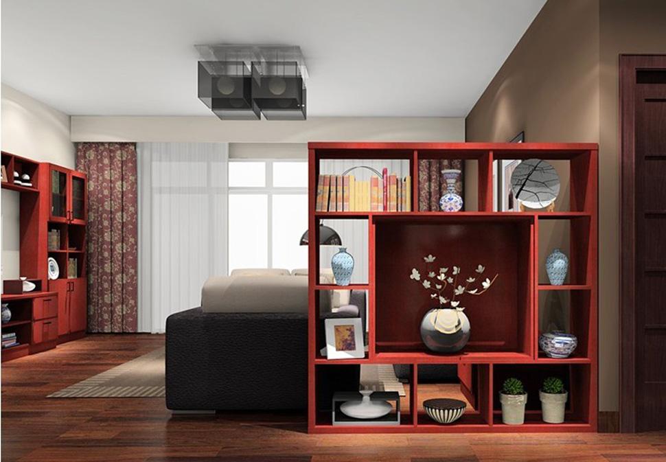 Шкаф-перегородка для красивого и эффективного зонирования.