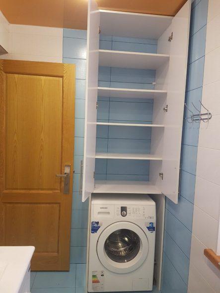 Шкаф над стиральной машинкой
