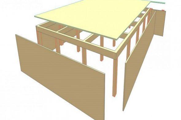 Схема обшивки кровати