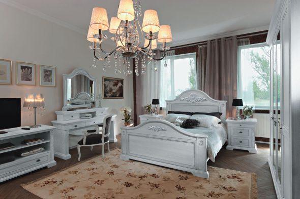 Спальный гарнитур белого цвета