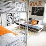 Стильная детская комната для троих детей