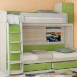 Удобная и стильная двухъярусная кровать