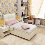Удобная мягкая кровать для подростковой комнаты
