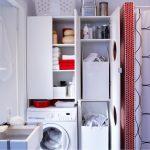 Удобный шкаф над стиральной машиной